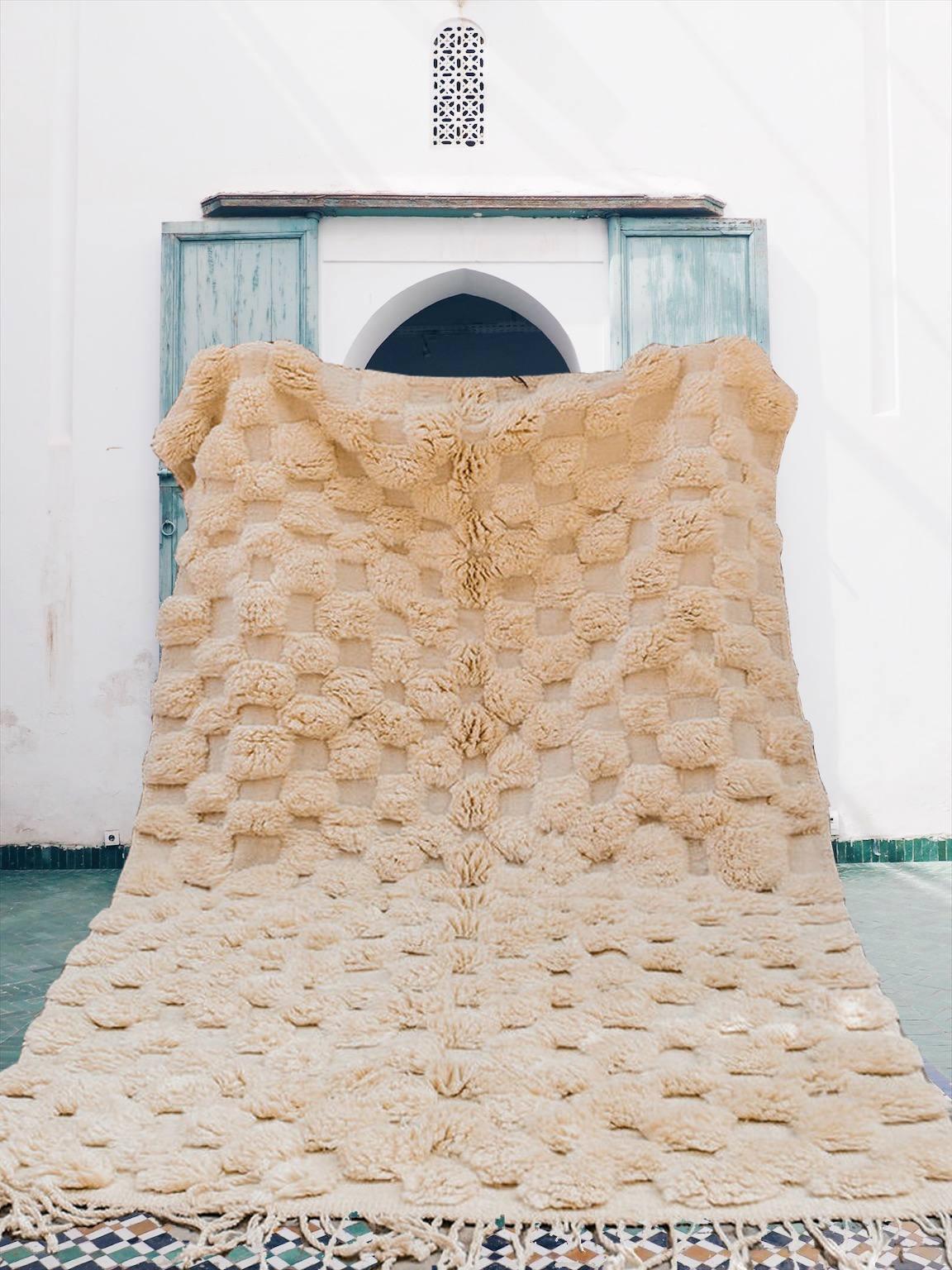 Fonkelnieuw Unique Beni Ourain rug-Creamy -HOUDA - Berber Creations ZB-34