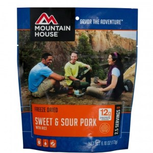 Sweet and Sour Pork Freeze-dried Pouched Food or Meal