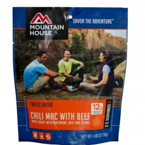Chili Mac with Beef Freeze-dried Pouched Food or Meal