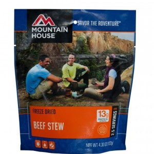 Beef Stew Freeze-dried Pouched Food or Meal