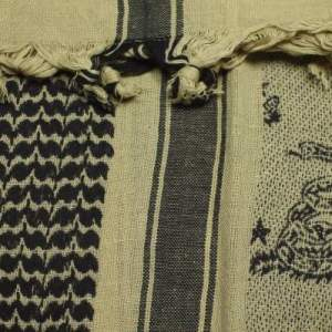 Snake Shemagh Scarf in Tan/Black
