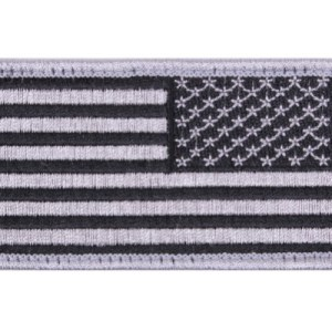 US Flag Reverse Patch - Silver