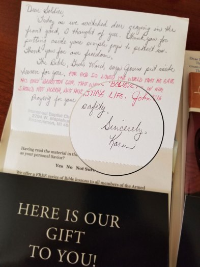 handwritten notes berean armed forces ministry