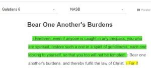 Galatians 6:1, NASB