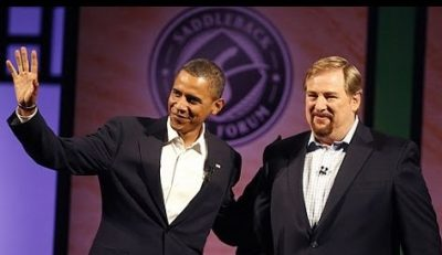Rick Warren and Barack Obama (2)