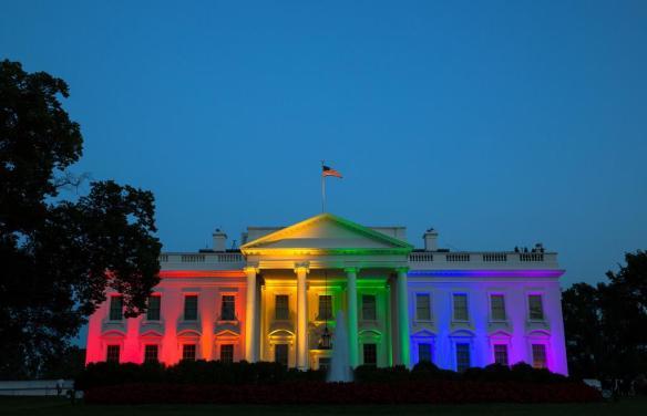 White House rainbow colors