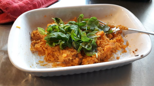Ravioli met zoete aardappel
