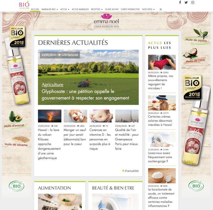 Habillage site web