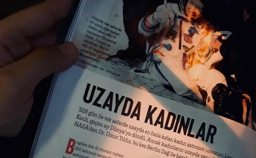 Dr Umut Yıldız ile Atlas Dergisi'ne yazdık: Uzayda Kadınlar #8M