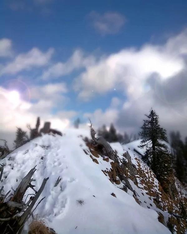 Gipfelgrat des Eibenberg