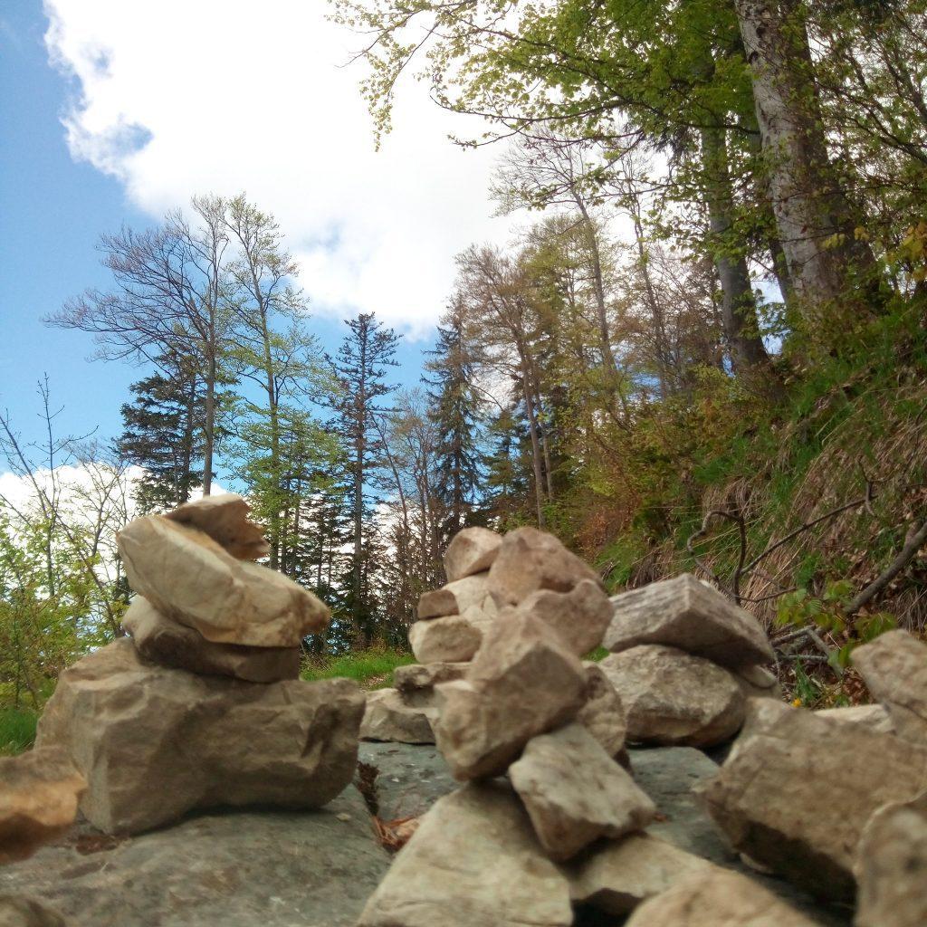 Soamandln beim Aufstieg zum Ochsenberg und Eibleck und Abstieg via Kallersberg