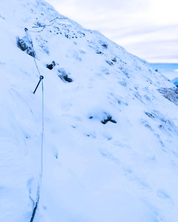 Bergtour mit Hund im Winter zum Schoberstein, Höllengebirge