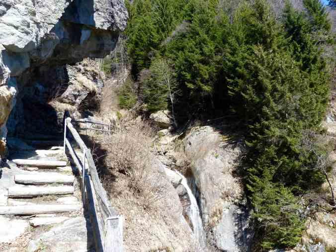 Steil, aber gut gesichert: Fopeta-Tobel am Panoramico
