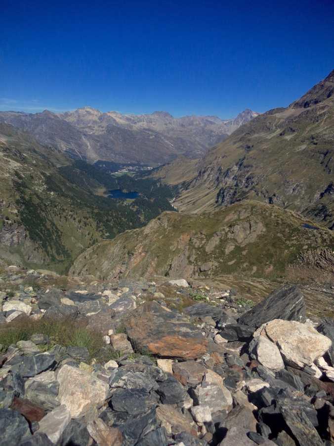 Blick auf den Cavloc-See über I Rossi hinweg (Foto: C. Peitz)