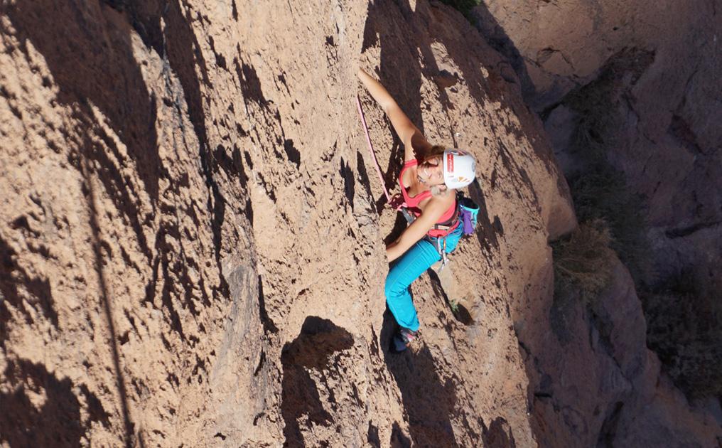 Klettern in der Todhra-Schlucht