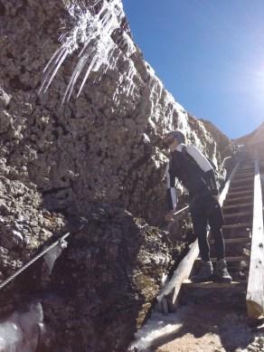 Einbahn-Passage beim Abstieg