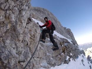 Trotz Schnee lag das Seil meist frei