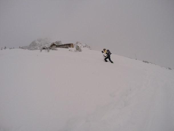 Der letzte Anstieg vor der Hütte.