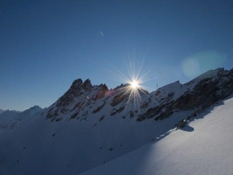 Sonnenuntergang auf 3000 m.