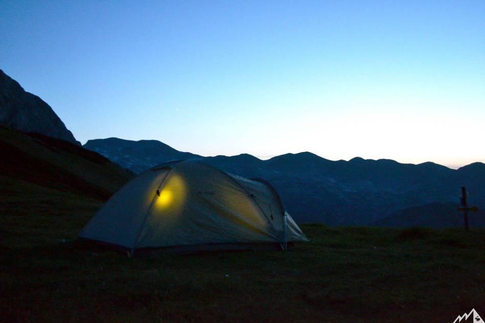 Zelten am Berg