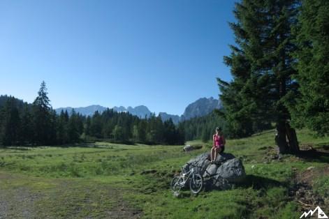 Blick auf Gosaukamm und Dachsteinmassiv