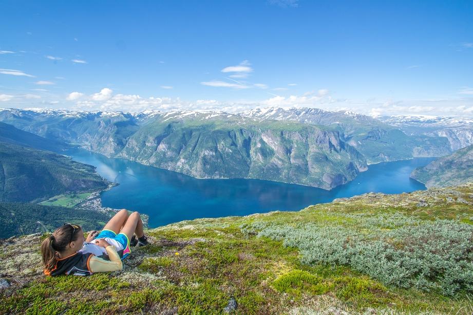 Aurlandsfjord Wandern Norwegen