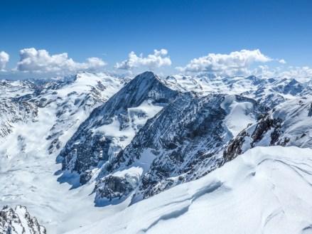 Blick auf Königsspitze und Cevedale