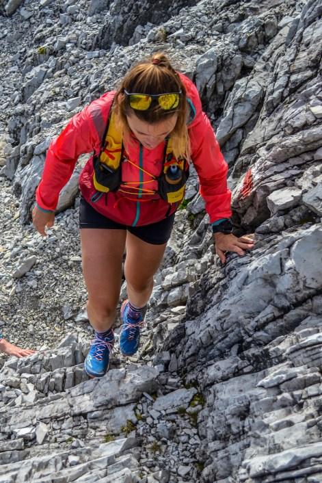 Einfache Kletterstellen...