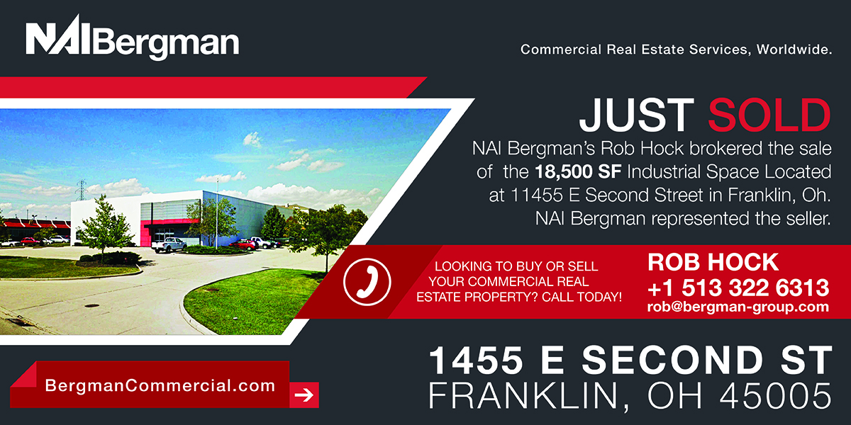 NAI Bergman, Bergman Commercial, Leasing, Selling, Commercial Real Estate, CRE, Cincinnati Commercial Real Estate, Property Management, Cincinnati, Dayton, Office, Retail, Industrial, Medical, Multi Family, Land, Investment, Cincinnati News, Dayton News, Bergman, Bergman Commercial Search, 1455 E Second Street, 1455 east second st, Franklin Oh, 1455 E Second St
