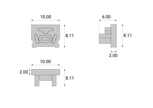 Profile aluminiowe PRO-10 - zaślepki