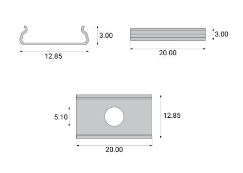 Profile aluminiowe PRO-11 - uchwyty montażowe