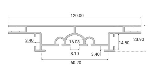 Profil kasetonowy Side-Frame 120