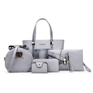 Woman bags set 6 pieces Fashion Shoulder bag Handbags Envelope and Wallet.