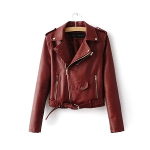 Woman leather jackets new 2020 fashion autumn and winter PU leather jacket.