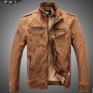 Men Leather Jacket Casual Sports and street style PU Leather Winter