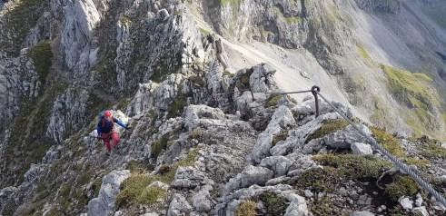 Mittelteil des Mittenwalder Klettersteigs