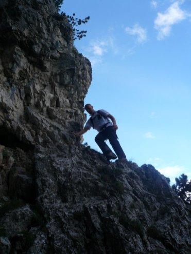 beim Aufstieg
