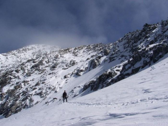Gipfelaufbau beim Abstieg