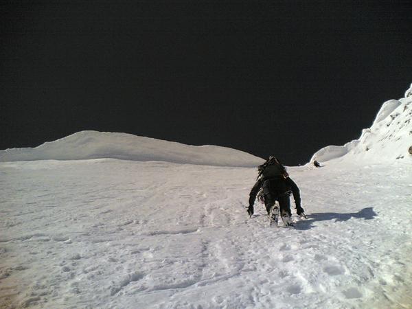 Skitour Hochfeiler Nordwand, Weißzint