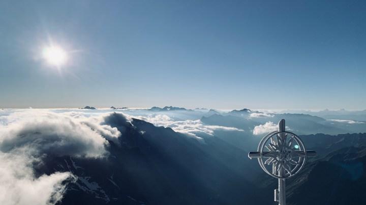 Schneespitze 3166m, Tiroler Höhenweg im Pflerschtal