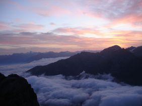 Morgenstimmung oberhalb der Payerhütte