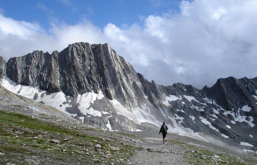 Eisjoch (2879m) und Stettiner Hütte (2875m)