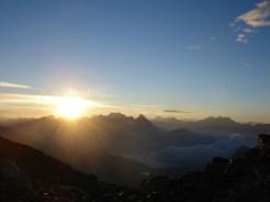Sonnenaufgang am Piz Trovat