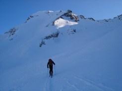 Gipfel mit Sattel