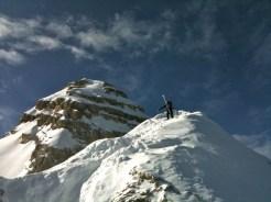 Grat und Gipfelaufbau