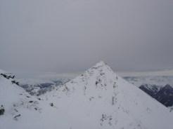 Blick vom Gipfel zur Wetterspitze