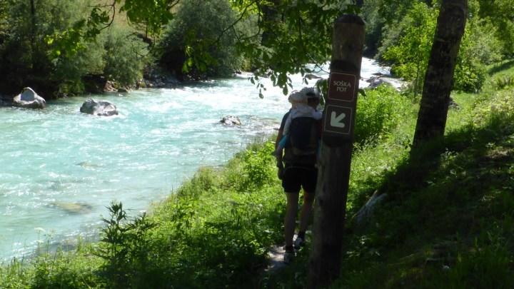 Soča-Trail von Soča nach Trenta