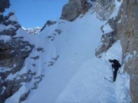 Querung (mit Ski)