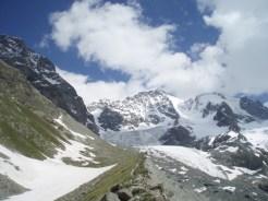 Tschiervahütte und Piz Bernina