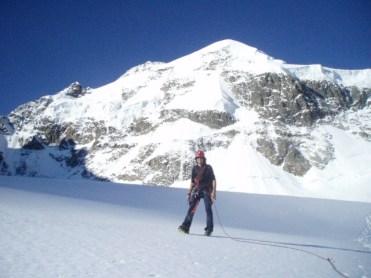 Beim Abstieg über den Tschiervagletscher